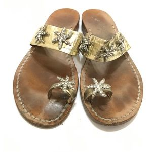 Amedeo Canfora Thong Sandals Stars Beaded